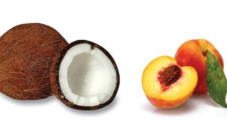 Kokosnuss und Pfirsich