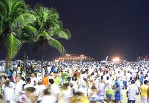 An der Copacabana in Rio de Janeiro fand die größte Silvesterparty weltweit statt
